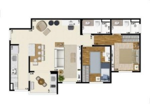 Yes Planta 69 m2 living ampliado