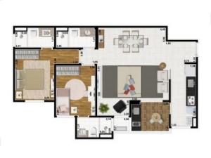 Yes Planta 74 m2 living ampliado